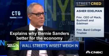 Asher Edelman Wall Street expert shocks CNBC as he states Bernie Sanders better for economy (VIDEO)