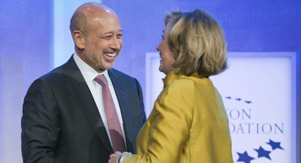Plutocracy Lloyd blankfein , Hillary Clinton