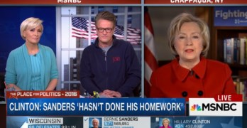 Hillary Clinton, Joe Scarborough, Bernie Sanders
