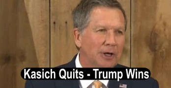 John Kasich Quits Trump presumptive nominee