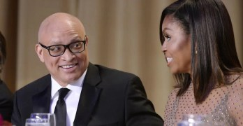 Larry Wilmore and Michelle Obama at White House Correspondents Dinner