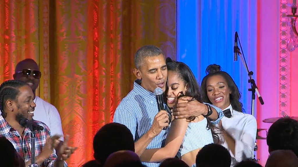 Obama serenades daughter Malia for her birthday as he pays homage to Americans on July 4th