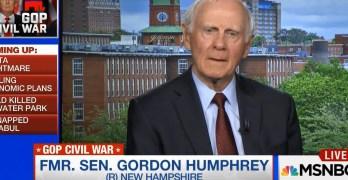 Former Republican Senator Gordon Humphrey calls on RNC to revoke Donald Trump's Presidential candidacy (VIDEO)