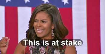 Michelle Obama tells voters what is at stake in stark terms in 201t6 election