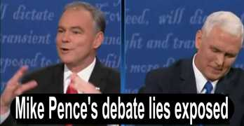 Mike Pence vice presidential debate lies fact checked with video evidence (VIDEO)