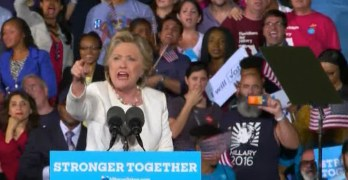 Watch Hillary Clinton summarily put a Trumpian heckler in their place (VIDEO)