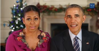 President Obama and Michelle Obama's 2016 Christmas message