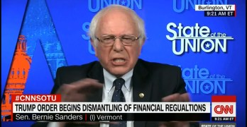 Bernie Sanders did not mince his words nor did he need to get uncivil as he described Trump literally as a fraud based on his actions.