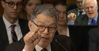 Sen Al Franken tears into Texas Sen Cornyn over Ted Cruz lies