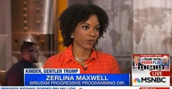MSNBC Zerlina Maxwell great response to gullible punditry adulation of Trump speech