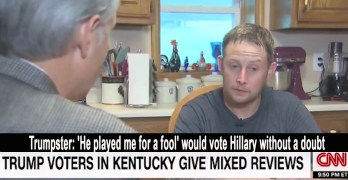 Trump voter- He played me for a fool - would now vote - Hillary without a doubt - (VIDEO)