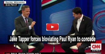 CNN Jake Tapper checks bloviating Trump supporting Speaker Paul Ryan (VIDEO)