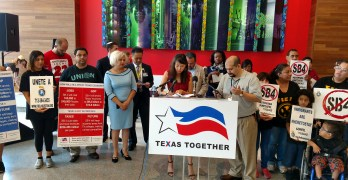 Pantsuit Republic & Mi Familia Vota holds SB 4 Call for Repeal Press Conference (VIDEO)