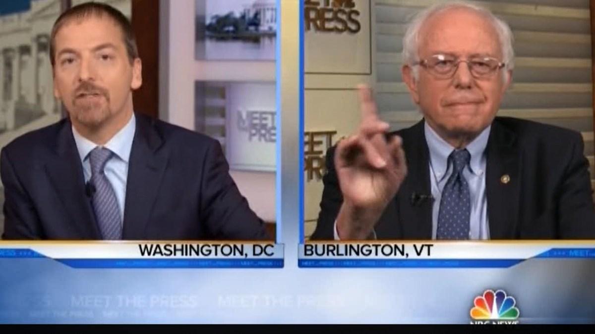 Bernie Sanders dismissed Chuck Todd snark & schools him on Medicare for all (VIDEO)