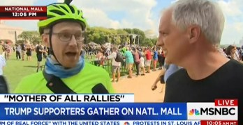 MSNBC cuts off man telling them they were misrepresenting Trump rally as benign (VIDEO)