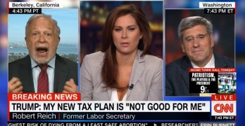Robert Reich destroys Right Wing economist attempt to sell GOP tax cuts with trickle-down economics