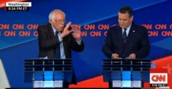 Bernie Sanders corners Ted Cruz in CNN debate and Cruz knew it (VIDEO)
