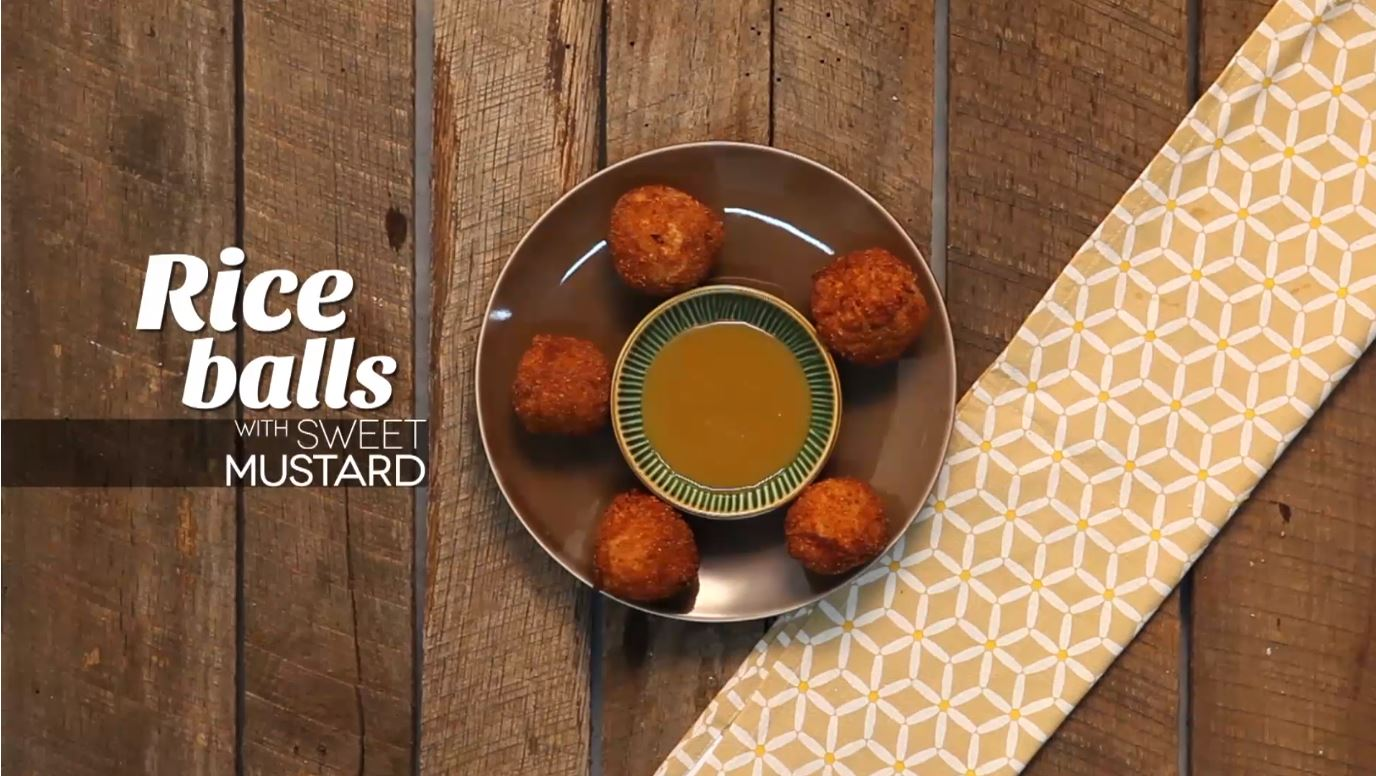 Recipe for Rice Balls with Sweet Mustard
