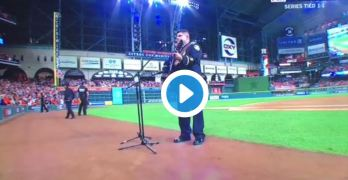 The worse rendition of God Bless America occured at the World Series in Houston? (VIDEO)