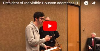 Indivisible Houston questions County Court on damning Hurricane Harvey report (VIDEO)