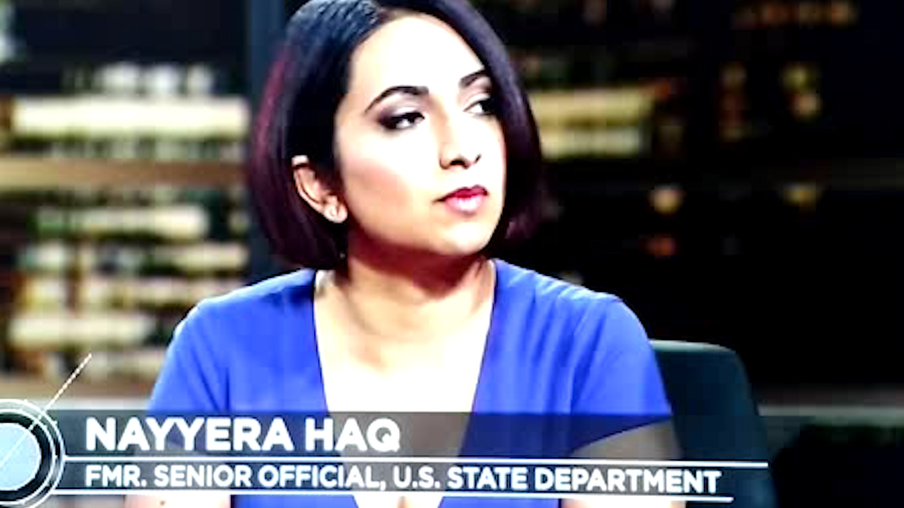 Bill Maher guest, Nayyera Haq, scolds Billy Bush for behavior on bus with Trump (VIDEO)