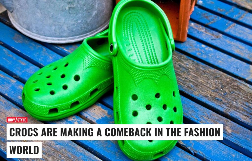 I feel vindicated to my fashion haters, my crocs are in again