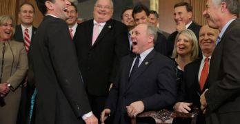 House GOP KNEW Trump got illegal help from Putin, they're on tape laughing about it.