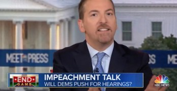 NBC Chuck Todd attempt to blame Fox New for the current state is but projection