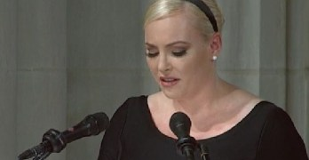 Meghan McCain was clearly upset with President Trump and the words within her eulogy made it clear she wanted it known.