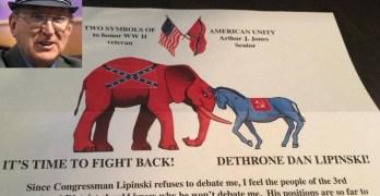 Trump Effect Illinois GOP Holocaust denier candidate vile racist flyers