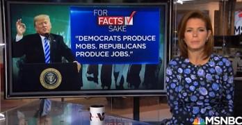 More jobs under Democrats: Stephanie Ruhle exposed Trump/GOP's job lies (VIDEO)