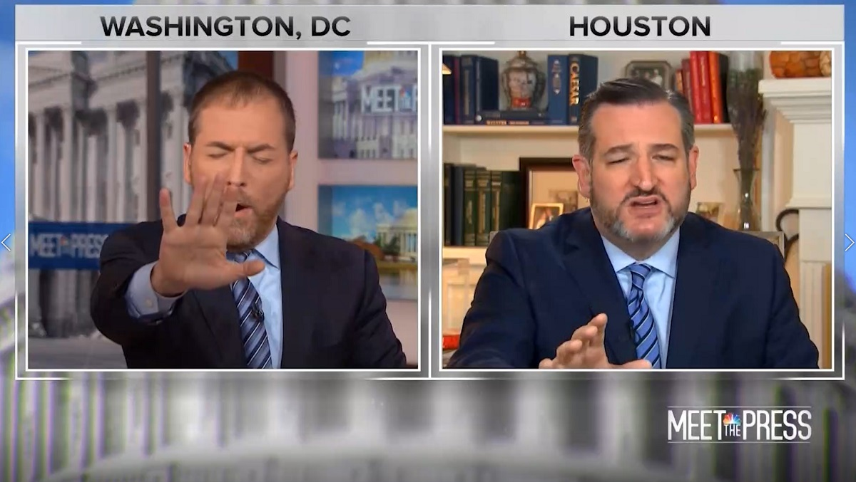 Watch Chuck Todd get Ted Cruz frazzled for his insane support for Trump
