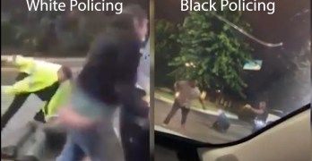 The difference between Black & White policing side by side in video. Guess who's shot dead.