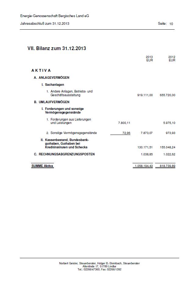 Bilanz 2013 - Seite 10