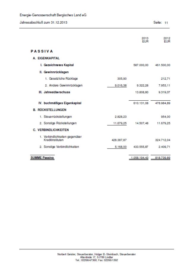 Bilanz 2013 - Seite 11