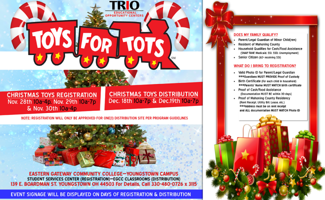 Toys For Tots Christmas Toy Registration In Youngstown