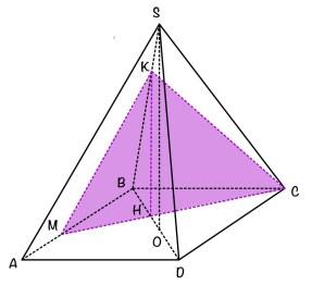 правильная четурехугольная пирамида