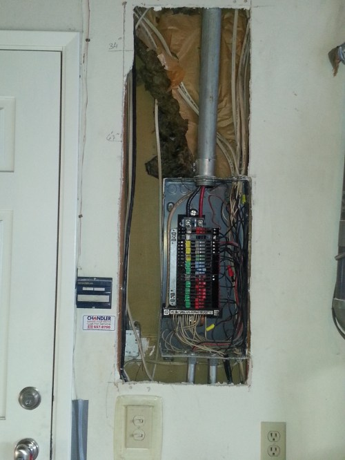 small resolution of zinsco fire hazard panel to be replaced with 200amp rated square d panel in