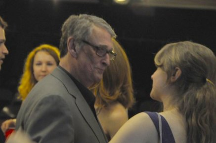 """With Mike Nichols at New Actors Workshop 2010. Celebrated director Mike Nichols was one of the founders of NAW and led masterclasses every Wednesday afternoon. """"There are three kind of scenes; a seduction, a negotiation or a fight."""""""