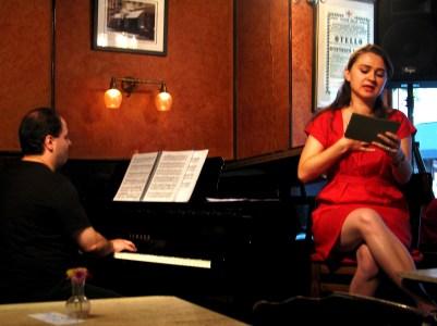 with pianist Emir GAMSIZOGLU, Caffe Vivaldi, West Village
