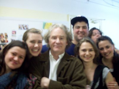 Me and my classmates are w Kevin Kline in this blurry picture:) After his Shakespeare intensive masterclass at NAW