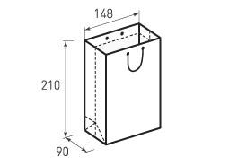 Вертикальный бумажный пакет В148x210x90