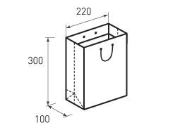 Вертикальный бумажный пакет В220x300x50