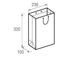 Вертикальный бумажный пакет В230x320x100