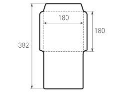 Квадратный конверт 180x180