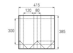 Вертикальный бумажный пакет V120x300x80
