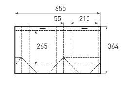 Вертикальный бумажный пакет V210x265x110