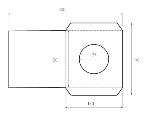 Квадратный конверт 150x150