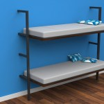 Horizontal Wall Mounted Folding Double Bunk Bed With Mattresses Egfern