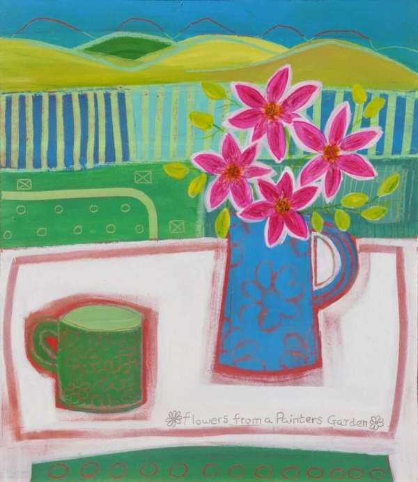 Blue Jug Hand painted Acrylic painting by John Birch